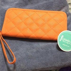 Koi colored Initials, Inc wallet/wristlet